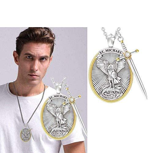 Arcangelo San Michele Collana Spada divina Collana con ciondolo di protezione Senhield Charm San Valentino (1 pc)