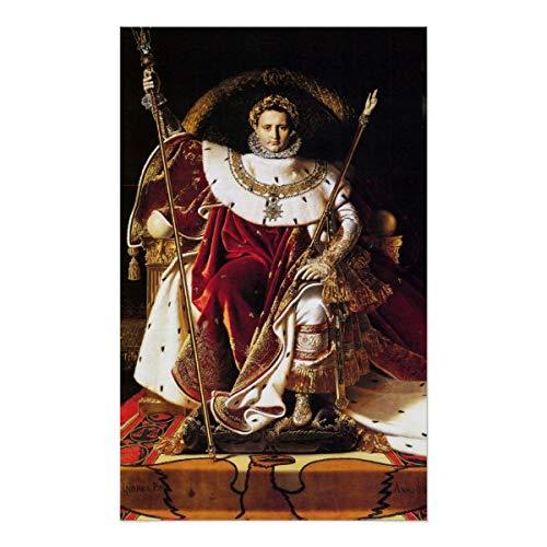 CiCiDi Póster de Napoleón I en su trono imperial, Ingres