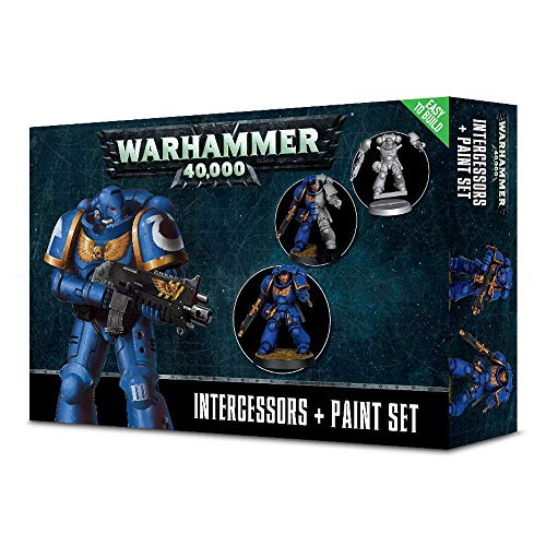 Games Workshop Warhammer 40K Miniatures - Intercessors & Paint Set