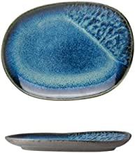 LHQ-HQ Kiln Glaze Creative Accueil Art de la Table Vaisselle en céramique en Forme de Bol de Riz Bol à Soupe Plate J 24X18...