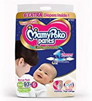 MamyPoko Pants Extra Absorb Diapers, New Born (Upto 5 kgs), 99 Count