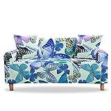 WXQY Funda de sofá elástica para sillón de Mariposa, Funda de sofá para Sala de Estar, Esquina en Forma de L, Funda de sofá Modular, Funda de sofá A9, 3 plazas