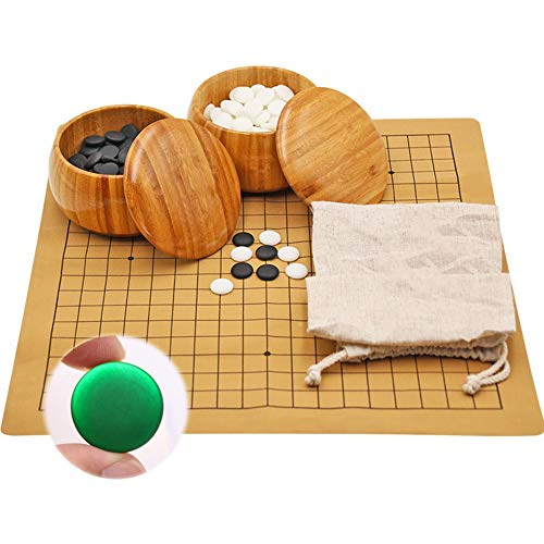 YYFANG Go-Spiel,Brettspiel,Gehen Puffen Los Geht's Massivholzschachbrett Kind Erwachsener Puzzlespiel 361 Reversi Massivholz Nicht Deformiert Kommt Mit 6 Schachfiguren ( Color : A , Size : 47CMX42CM )