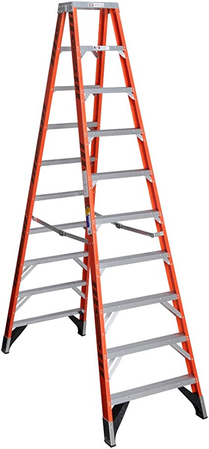 Twin Stepladder Fbrgls Iaa 10ft T7400 Amazon Com