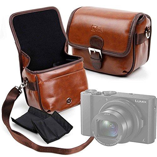 DURAGADGET Bolsa Profesional marrón con Compartimentos para cámara Olympus OM-D E-M10 Mark...