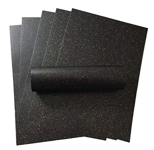 10 Blatt A4 anthrazitfarbenes funkeln papier mit schillerndem Glitzer, 120 g/m², für Bastelkarten
