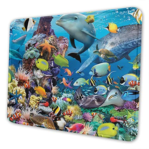 Underwater-1 Multi-Size Gaming Mouse Pads for Adults and Children are Suitable for Office, Gaming, and Learning 10 X 12 Inch