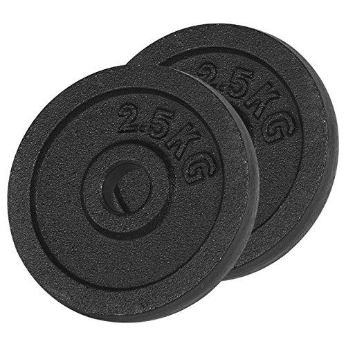 Sport-Tec Hantelscheibe aus Gußeisen, Hantel, Gewichte, Stück: 5 kg
