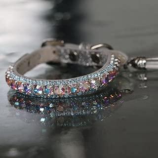 Rockstar TM - Rainbow Aurora and Clear Diamonte Crystal Rhinestones Aura Chakra