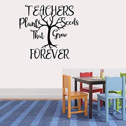 Der Lehrer pflanzte einen Samen, der für immer hält Vinyl Aufkleber Wandaufkleber DIY Wandtattoo Kunst Wandbild 13 x 14