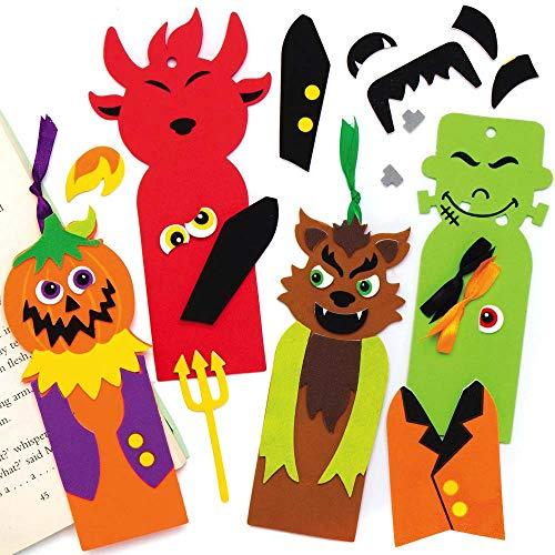 Baker Ross AX239 Kit Segnalibri Di Halloween - Confezione Da 6, Crea Il Tuo Segnalibro Personale, Progetti Di Arti E Mestieri Creativi, Impara A Leggere