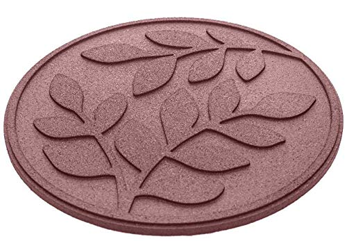 """REVTIME Rubber Garden Stepping Stone with Olive Leaves Design 17-3/8"""", 3/4"""" Thick for Home, Garden, Lawn (Pack of 6) Terra Cotta"""