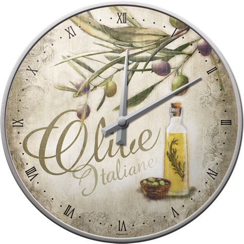 Nostalgic-Art 51053 Home und Country Olive Italiane, Wanduhr, 31 cm