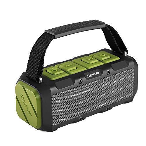 iDeaPLAY 20W Tragbarer Lautsprecher Wasserdicht IPX7 Bluetooth 4.2 Outdoor Lautsprecher, Bis zu 13 Stunden Spielzeit, Geeignet für Smartphones, Tablets und andere Geräte