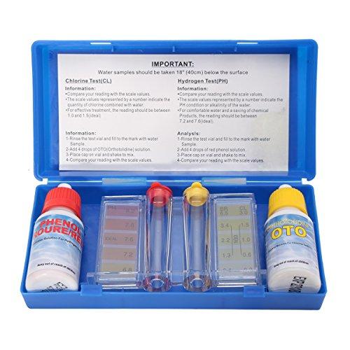 EsportsMJJ Draagbare PH Chloor Water Kwaliteit Test Kit Zwembad Spa Test Indicator w/Kleur Grafiek