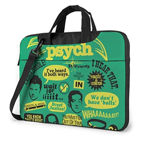 Psych Pineapple Quakeproof Laptop Bag Briefcase Shoulder Messenger Bag Satchel Tablet Bussiness Carrying Handbag
