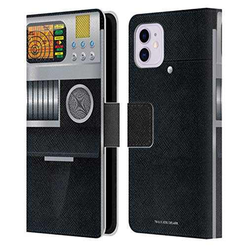 Head Case Designs Officially Licensed Star Trek Tricorder Gadgets Leather Book Wallet Case Cover Compatible with Apple iPhone 11