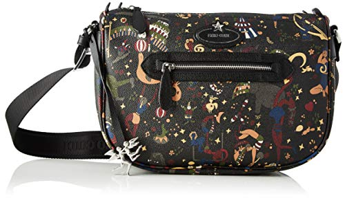 piero guidi Cross Body, Borsa a Tracolla Donna, (Nero), 30x25x12 cm (W x H x L)