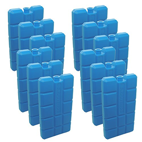 8 Stück NEMT Kühlakkus Kühlelemente je 200ml für Kühltasche oder Kühlbox bis 12 h Kühlpack Kühlakku