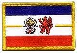 Flaggen Aufnäher Deutschland Mecklenburg-Vorpommern Fahne
