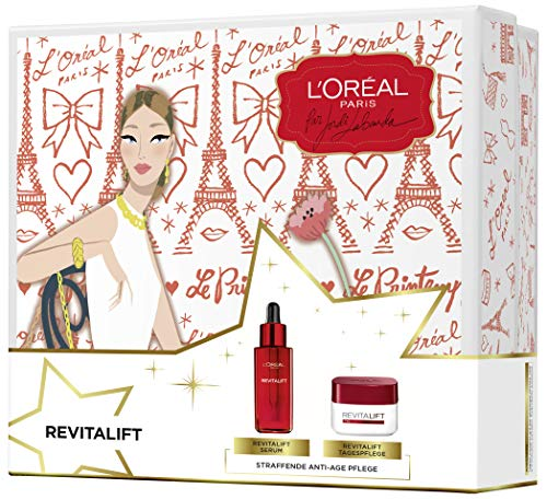 L'oréal Paris Revitalift Serum Und Tagescreme Gesichtspflege Geschenk-Set Mit Hyaluronsäure, Feuchtigkeitspflege Gegen Falten Und Für Eine Straffe Haut, (1 X 576 G)