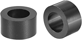 uxcell ABS Round Spacer Washer 3.2mm ID 7mm OD 2mm Length Unthreaded for M3 Screws Block Black 250Pcs for 3D Printer TV Wall Mount Outlet Pegboard Motorbike