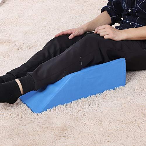 Emoshayoga Almohada de Apoyo para Las piernas La Almohada de cuña para el reposapiernas disminuye el Dolor para la Espalda Baja(Blue, 50 * 20 * 15cm)