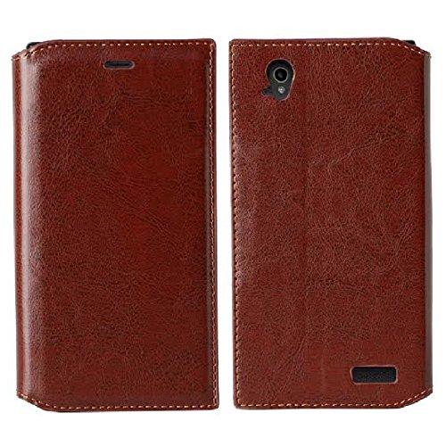 SOGA Cover Compatible ZTE Warp Elite Case, ZTE Warp Elite Wallet Case – [Pocketbook Series] PU Leather Folio Flip Wallet Case for ZTE Warp Elite N9518 (Boost Mobile) - Luxury Brown/Black