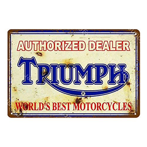 ZYZRYP Tinplate Wall Art Motor Oil Metal Sign Classic Motorcycle Poster Retro Painting Bar Garage Decoration 20x30cm YD3074J