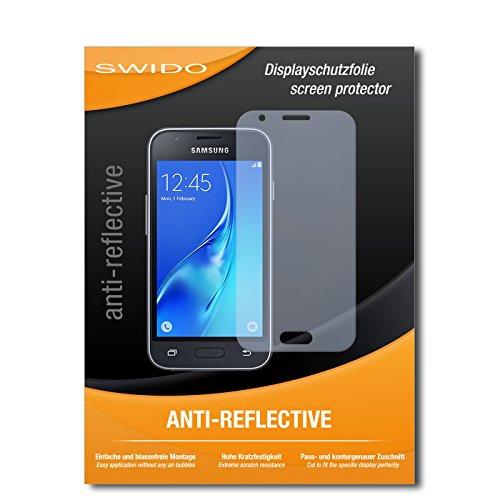 SWIDO Schutzfolie für Samsung Galaxy J1 Mini (2016) [2 Stück] Anti-Reflex MATT Entspiegelnd, Hoher Festigkeitgrad, Schutz vor Kratzer/Bildschirmschutz, Bildschirmschutzfolie, Panzerglas-Folie
