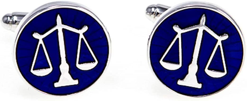 MRCUFF Law Scales of Justice Attorney Cufflinks SEAL limited product P Lawyer in Pair Fashionable