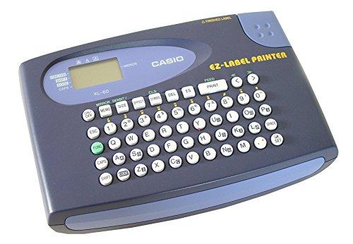CASIO  KL-60 etichettatrice portatile - Display a 2 righe, supporta tutti i nastri CASIO da 6/9/12 mm