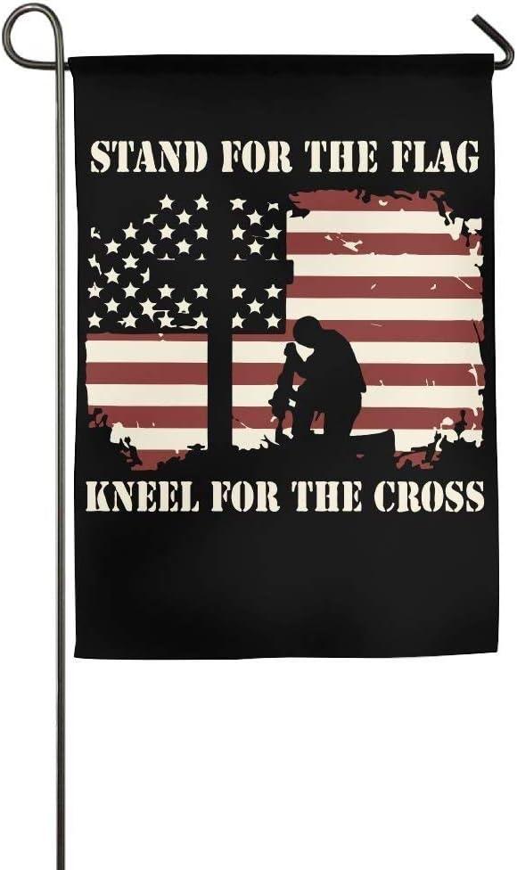 Love Fees free fled I Stand for The Custom Kneel Flag Cross Branded goods Home