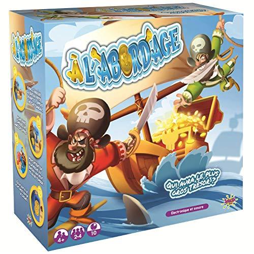 Splash Toys- Alabordage-Jeu d'action-Les Pirates veulent Voler Toutes Les pièces d'Or cachées dans Le Coffre au trésor, 30127, Noir