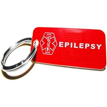 Personalized Diabetes Epilepsy Medical Alert Keychain