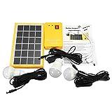 Tutoy Solar Power Panel Generador Kit 5V USB Cargador Sistema De Inicio con 3 Bombillas Led Luz