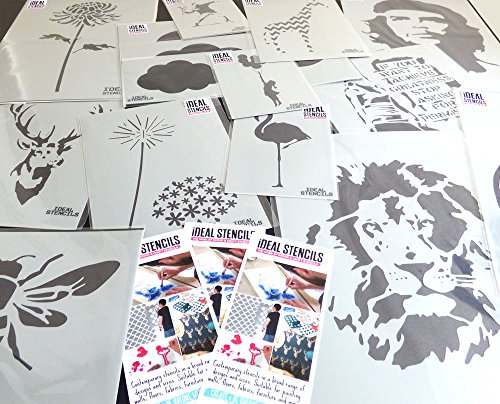 Arte y Artesan/ía Estarcido Semi Transparente ESTARCIDO Om Mandala S/ímbolo Plantilla Pintura Paredes Tela /& Muebles M// 25X25CN Reutilizable Casa Pared Decoraci/ón