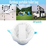 Disposable Toilet Bags for Travel Outdoor Camping RV Emergency Bedside Commode Liners with Absorbent Pads Portable Commode Bags(Universal - 28 Pack)