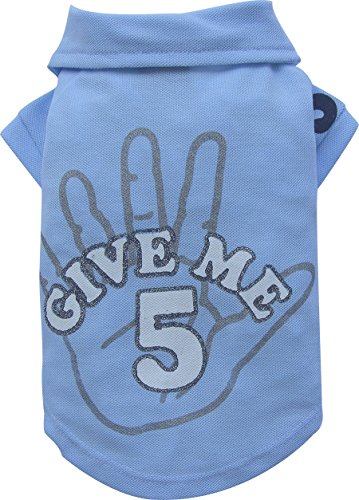 Doggy Dolly T228 Polo Shirt für Hunde Give me 5, blau, Größe : XXL