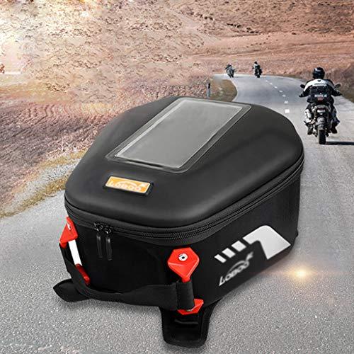 Wlik Motorrad Satteltaschen, Wasserdichter Motorrad-Rückentasche Universal Schnellverschluss Tankrucksack Aufbewahrungstasche 6.5L