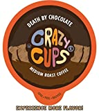Crazy Cups Flavored Coffee for Keurig K-Cup Machines, Death by Chocolate, Hot or Iced Drinks, 22 Single Serve, Recyclable Pods
