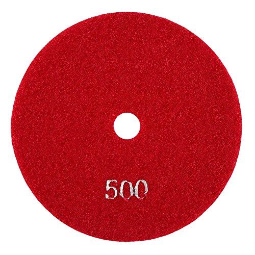 5pulgadas/125mm Disco de Pulido de Diamante Húmedo Almohadilla de Pulido de Diamante Pulidora para Mármol de Granito Piedra de Hormigón(500)