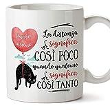 MUGFFINS Tazza San Valentino (Ti amo) - la distanza significa così poco - Idee Regali Anniversario Originali per Lui/per Lei/Ragazzi/Fidanziati