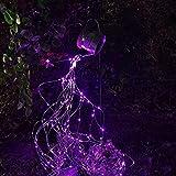 Estatuas De Esculturas Al Aire Libre A Prueba De Agua, Luz LED De Cadena Rosa, Regadera, Luz De Noche Estrellada, Luz De Noche De Hadas Para Patio, Patio, Decoración De Fiesta, Luces Solares, Pink