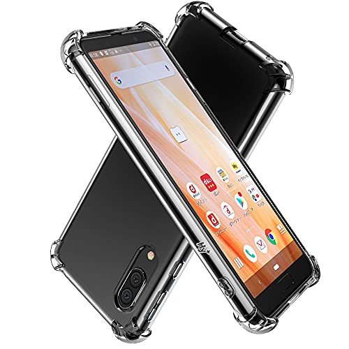 Hy+ AQUOS sense3 ケース SH-02M SHV45 SH-M12 Android One S7 カバー SH-RM12 ストラップホール 米軍MIL規格 クリア 衝撃吸収ポケット内蔵 TPU 耐衝撃ケース 透明クリア