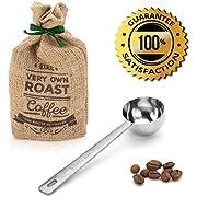 Amerigo Premium Coffee Scoop, Stainless Steel Measuring Coffee Spoon, Long Handled Coffee Scoop for the Best Usage