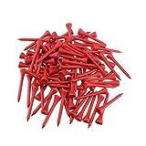 Tees de madera de golf profesional, tamaño 54 mm, 100 unidades, rojo