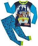 Scooby Doo Pijama Niño, Conjunto Pijamas Niños con Pantalón y Camiseta de Manga Larga, Ropa Niño de Dormir 100% Algodón, Regalos para Niños y Adolescentes Edad 3 a 12 Años (7-8 años)