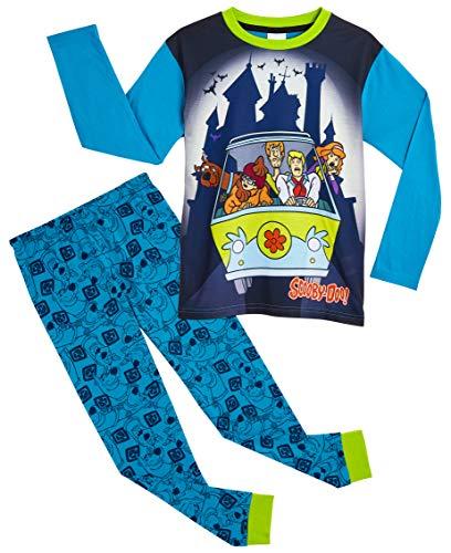 Scooby Doo Pigiama Bambino, Pigiami Bimbo Cotone Lungo 2 Pezzi con Personaggi Serie TV, Abbigliamento Ragazzo 3-12 Anni con Maglietta, Regalo per Bambino (9-10 Anni)