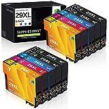 JARBO 29XL Compatible pour 29XL Cartouche d'encre pour XP-342 XP-245 XP-442 XP-235 XP-335 XP-432 XP-435 XP-332 XP-345 XP-247 XP-445(4 Noir,2 Cyan,2 Magenta,2 Jaune)
